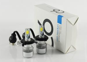China USA Bridgelux Chip COB LED Headlamps For Cars , High Power LED Headlight Bulb H4 on sale