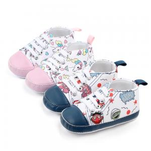 China Wholesale Cheap Cotton shoes Cartoon print prewalker boy and girl baby shoes toddler on sale