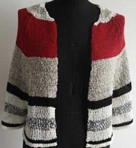 China Fashion Stripe Lady Cardigan Sweater on sale