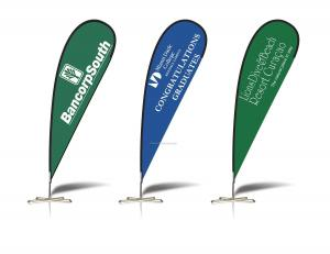 China Digital printing or digital heat transfer printing polyester beach custom flags banners on sale
