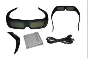 China IR Active Shutter 3D Glasses Rechargeable Universal 120Hz 86kPa - 106kPa on sale