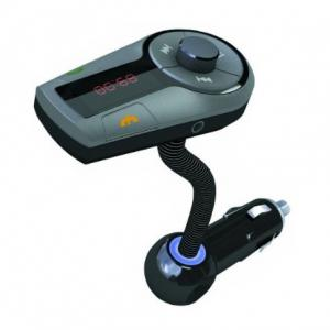 China Bluetooth hands-free car kit with usb car charger FM transmitter on sale