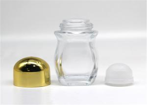 China 50ml Refillable Glass Roller Bottles Deodorant Containers For Essential Oil on sale