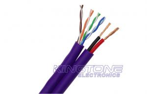 China Network Cable UTP CAT5E 24 AWG LSZH Jacket with DC Power Wire for IP Camera on sale