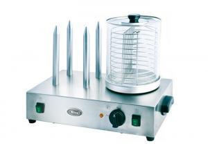China Snack Bar Equipment Electric Hotdog Machine With Heating Spike 220V - 240V on sale