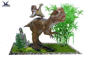 China High Simulated Large Animatronic Dinosaur RideToys Lifesize / 5 - 6 Hours With Full Battery on sale