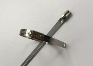 China SS304 Ladder Style Cable Ties , Stainless Steel Cable Zip Ties 12mm Width on sale