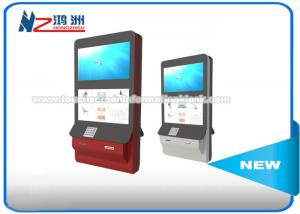 China Wall Mount Interactive Touch Screen Kiosk With Magnetic Stripe / RF / IC Card on sale