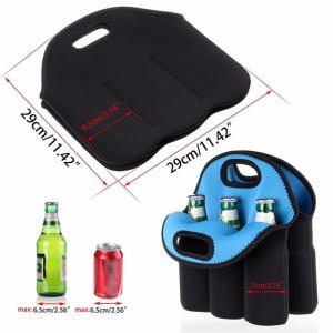 China Neoprene 6 -pack bottles beer cooler holder bag/ Insulated Water Bottle Wine Neoprene Cooler 6 Pack Beer Can Holder on sale