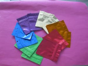 China Plain k Mylar Food Snack Bag Packaging with Tear Notch on sale