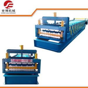 China Highway Guardrail Making Machine , Steel Roof Roll Forming Machine With Rubber Shaft on sale