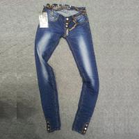 fashion ladies skinny jeans,whole seller,directly jeans factory,button fly,slit leg bottom