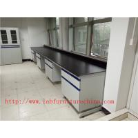 1500 mm   Width  Steel Wood Frame Blue /  White Science Lab Testing Tables Used  Furniture For High School / Hospital