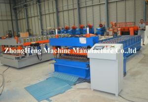 China Corrugated Roof / Roofing Sheet Roll Forming Machinery Panasonic PLC control on sale
