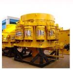 Rochas e triturador do cone da mola dos minérios, máquina para metalúrgico, construção do triturador de maxila
