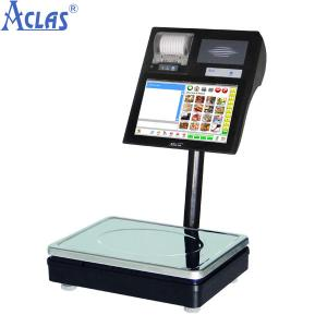 China Label Printing Scale,POS Scale,Touch Screen Scale,Touch Label Scale on sale