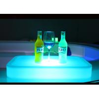 UV - Resistant LED Ice Bucket Square Shape Lightweight PE Plastic Material