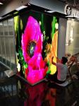 Full Color P2.5 Rectangular LED Sphere Display Right Angle Video Playing 2.88m*2.88m