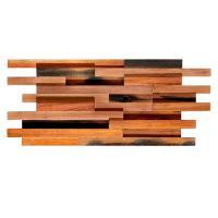 Solid Wood Mosaic Wall Panels , Room Reclaimed Boat Wood Wall Panel