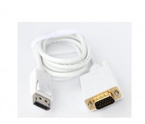 China 2015 New release 1.5M display port to vga cable 1080P for laptop on sale