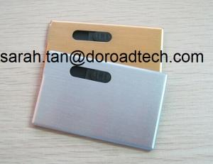 China Metal Bank Card USB Flash Drives, True Capacity Card USB Pen Drive on sale