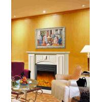 China Imitation Antique Marble Fireplaces , Wall Mounted Decorative Flame LED Electric Fireplace on sale