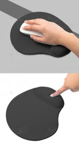 China good quality promotional comfortable and soft rubber foam mouse pad with wrist support on sale