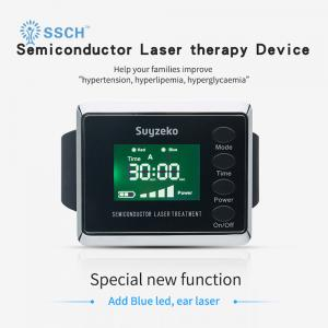 China Home Laser Wrist Cold Laser Blood Pressure Watch Silver & Black on sale