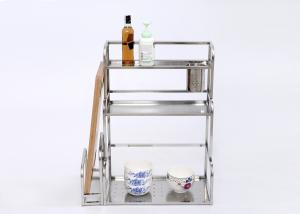 H285 Stainless Steel Kitchen Rack Condiment Holder Kitchen Table Top Shelf L48xd23xh60cm For Sale Stainless Steel Kitchen Rack Manufacturer From China 109019009