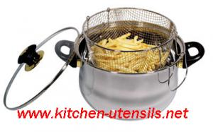 China 3 PCS stainless steel potato fryer set,stainless steel cookware on sale