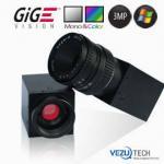 Câmera industrial de alta velocidade com relação de Gigabit Ethernet (GigE)