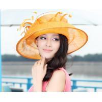 Big Brim Orange/Green Women Brooch Sinamay Hats/Sinama Hat/Sinamy Hat