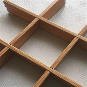 China Grid Shape Wooden Finishing Aluminum Veneer Panel For Interior Decoration on sale
