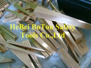 China Non Sparking Safety Tools Flange Wedge By Copper Beryllium 180*50*19mm FM Certificate on sale