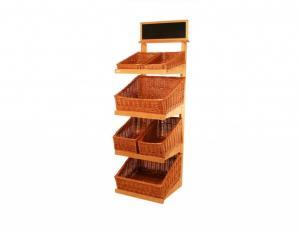 China Custom Painted MDF Floor Wooden Display Stands racks Bracket on sale