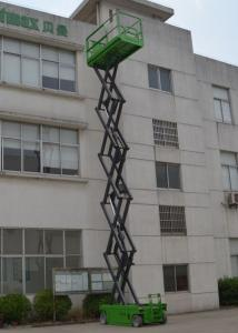 China Lift capacity 320kg Self Propelled Scissor lift platform for max 12m working height on sale