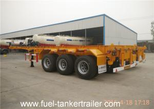China 40 20 Tri Axle Chassis Container , CCC ISO Semi Trailer Chassis on sale