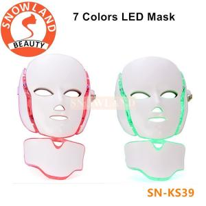 China Good effect!7 color led light therapy facial mask/pdt facial mask price on sale