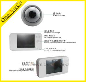 China Black Door Peephole Viewer LED working and low power indicator light on sale