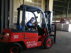 China Diesel Forklift Material Handling Lifting Equipment 1070x125x45mm Dimension on sale