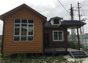 China 56㎡ Lightweight Cement Board Wall Prefab Steel House With Asphalt Shingle on sale