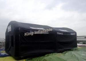 China Camping Rental Inflatable PVC Tent HD Digital Printing With Black PVC Coated Nylon on sale