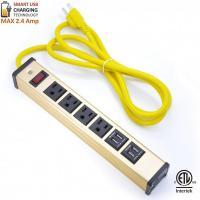 China Multi Outlet Desktop Power Strip With USB , Slim Power Bar With USB Charger on sale