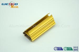 China Golden Color Extrusion Aluminum Profiles / Decoration Aluminium Door Frame on sale