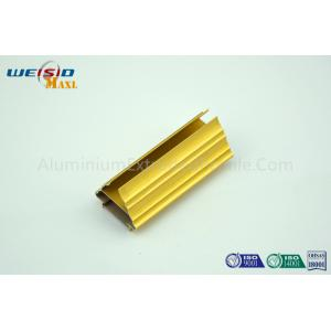China Golden Color Extrusion Aluminum Profiles / Decoration Aluminium Door Frame on sale