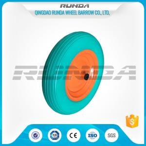 China Enviromental Materials PU Foam Wheel , TUV Polyurethane Wheels With Bearings  on sale