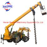 Pole Erection Machine Auger Crane Pile Driver Power for sale