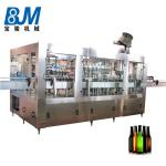 Glass Bottle Beer Filling Machine / Beer Filling Line PLC + Touch Screen Control