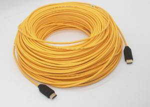 China 150m Pure 4K 8K HDMI Active Optical Cable LSZH Yellow Jacket 250mW Consumption on sale