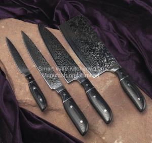 China Elegant cutting knife set damascus steel kitchen knife set on sale